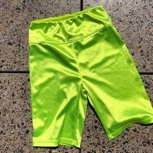 Urban outfitters Neon Yellow bike shorts